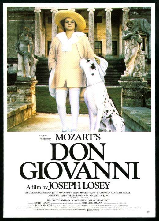 de affiche van de film Don Giovanni