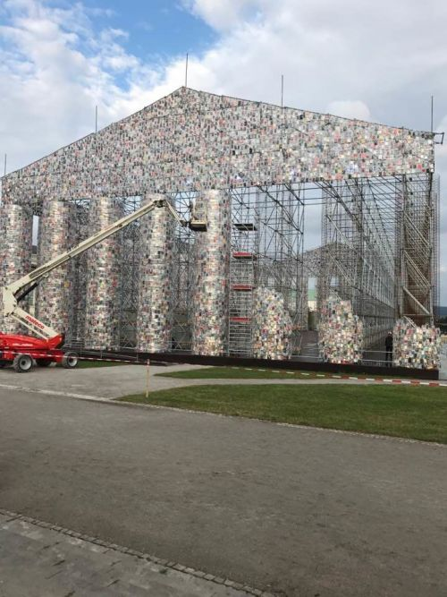 The Parthenon of Books op Documenta14 in Kassel, Foto: Chantal Pattyn