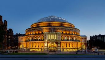 Buitenaanzicht van de Royal Albert Hall